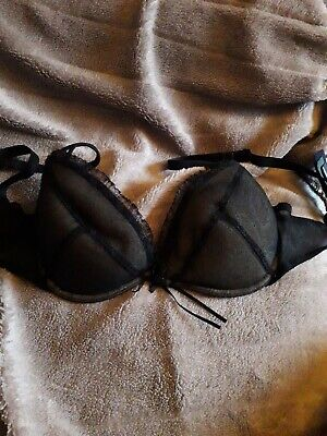 Push Up Bra -  Gel Cups *Size 34b* - 'Sexy Girl' Printed Lace • 6£