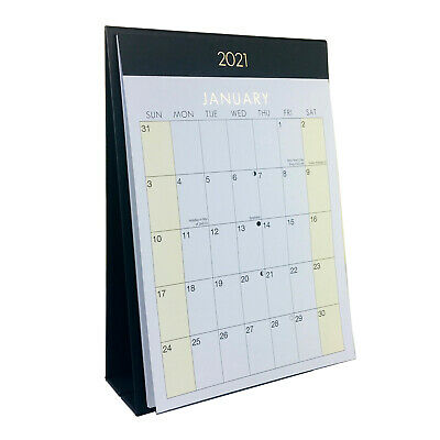 2021 Desk Calendar Month To View Office Home Desktop Table Planner Notes   • 3.49£
