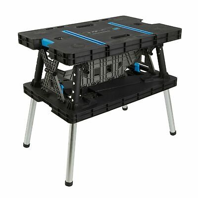 Keter Style Work Bench Portable Folding Adjustable Master Table Pro & 2 Clamps. • 84.99£