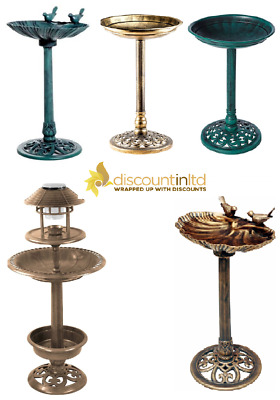 £24.98 • Buy Ornamental Bird Bath Table Garden Feeder Food Feeding Station Free Stand Feature