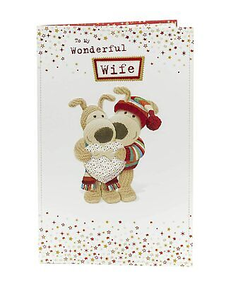 £3.50 • Buy Boofle To My Wonderful Wife Christmas Greeting Card Cute Xmas Cards