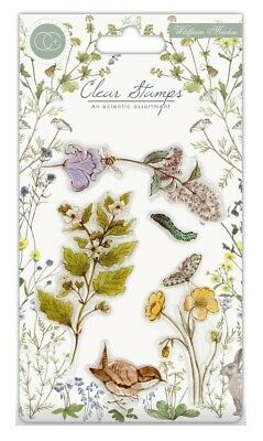 Craft Consortium Clear Stamps Set 5 Pieces - Wildflower Meadow Wild Flowers • 5.89£