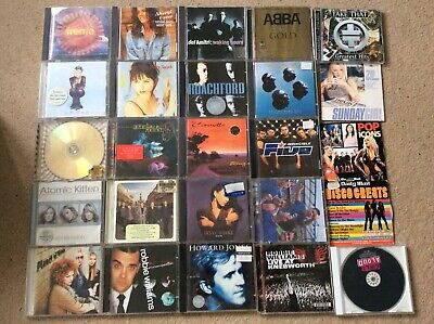 COLLECTION ONLY....Bundle 25xCDs POP ROCK Robbie Williams Crowded House ABBA • 2.99£