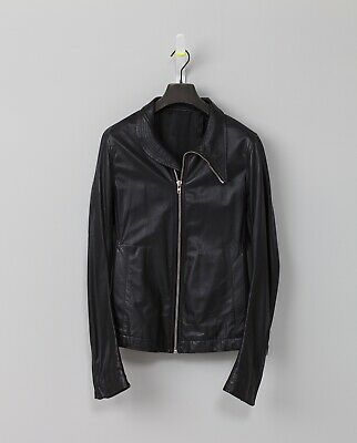 Rick Owens Slim-Fit Leather Bomber Jacket, New. Size 40 (IT50) • 760£
