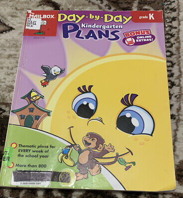 $4.99 • Buy Day By Day Kindergarden Plans Garde K The Mailbox Curriculum Paperback