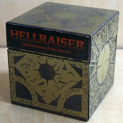 Hellraiser Limited Edition 4-Disc Box Set—Anchor Bay DVD 2004 UK—numbered Cube • 44.99£
