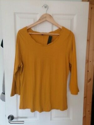 NEW Ladies M&co Mustard Top Size 16 • 1£
