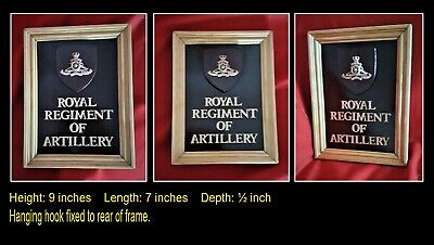 ROYAL ARTILLERY Regimental Framed Plaque  • 15£