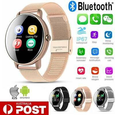 AU29.99 • Buy Womens Smart Watch Bluetooth Heart Rate Tracker Fitness For IPhone Android Gift