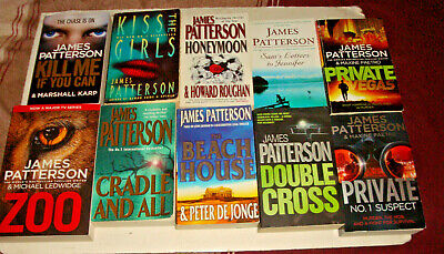 AU20 • Buy JAMES PATTERSON X10-ZOO,CRADLE & ALL;DOUBLE CROSS;HONEYMOON;KISS THE GIRLS+++