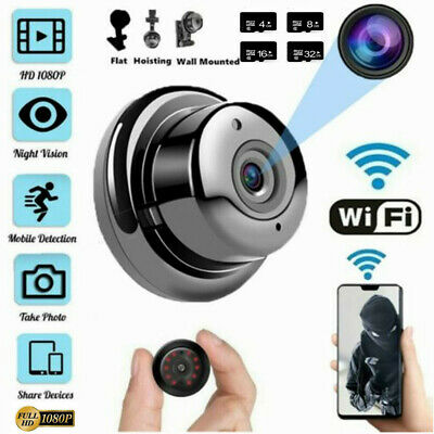 AU22.69 • Buy 1080P Wireless WiFi Indoor HD MINI IP Camera Home Security IR  With Holder New