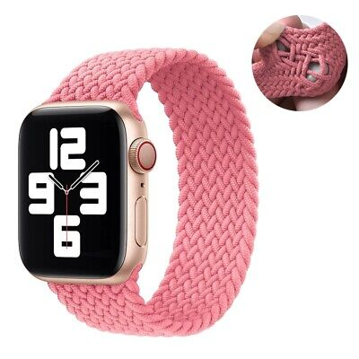 $ CDN13.14 • Buy Apple Watch 6 Braided Silicone  Solo Loop Strap Band IWatch Bands Series 6 SE 5