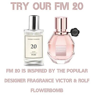 Fm 20 Pure Perfume 50ml Inspired By Victor & Rolf Flowerbomb • 15.70£