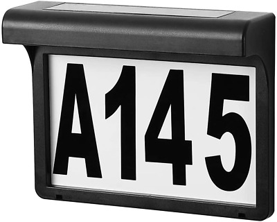 Solar House Number Light, Outdoor Led Lighted Address Sign, Plastic Plaque, For  • 24£