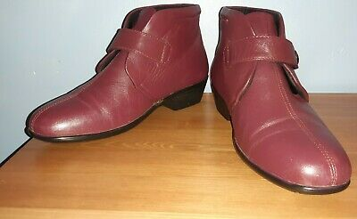 Women's Red Low Heel Ankle Boots, Size UK 5, Pavers • 2.50£