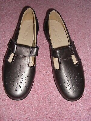 *New* Hotter Ladies 'Sunset' Dark Pewter Leather Extra Wide Shoes. Size 5.5 EEE • 8£