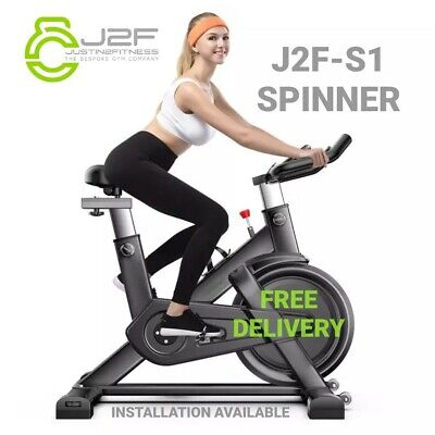 J2F-S1 Spinner Home / Gym Exercise Spinning / Spin Bike -  (BLACK) • 149.99£