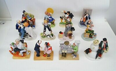$ CDN65.70 • Buy Lot Of 12 The 12 Norman Rockwell Figurines Danbury Mint 1980 Booklet FULL SET
