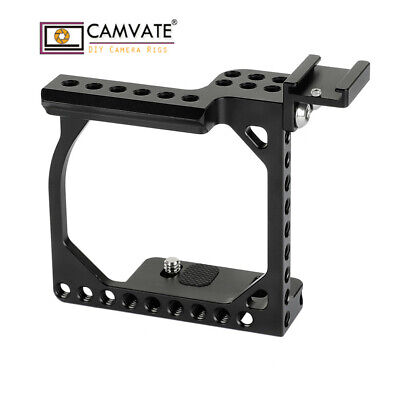 $ CDN60.49 • Buy CAMVATE Camera Cage Rig Shoe Mount For Sony A6300 A6500 Canon EOS M10 Aluminum