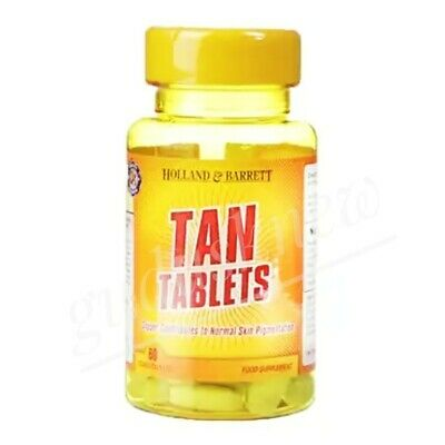 60 Tanning Pills / Tablets Fast Beautiful Natural Bronze Skin Tan Without Sun • 9.73£