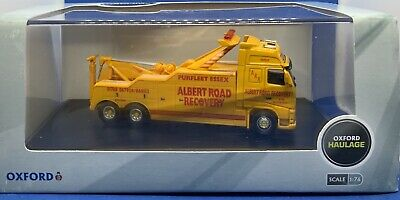 Oxford Diecast Volvo Fh Recovery Truck Albert Road Recovery 1/76 Vol01rec • 19.90£