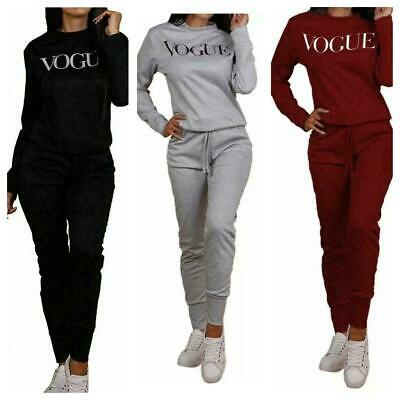 New Style UK Women VOGUE Print 2 Piece Co-Ord Lounge Wear Tracksuit Ladies Long • 14.34£