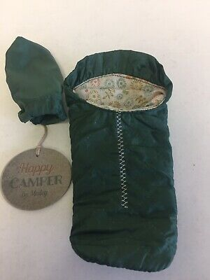 New Maileg Happy Camper Sleeping Bag Small Mouse Green With Tags • 16.50£