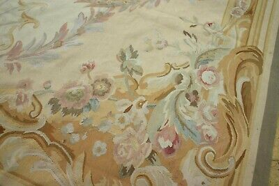 Vintage French Aubusson Wool Hand Knotted HANDMADE Rug 380 X 270 Cm • 2,000£