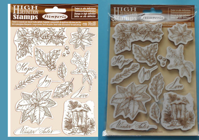 POINSETTIA  14 FOAM MOUNTED RUBBER STAMPS  STAMPERIA  Holly Lantern Christmas • 9.95£