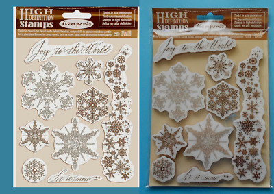 SNOWFLAKES  9 FOAM MOUNTED RUBBER STAMPS  STAMPERIA Christmas Flurry Crystal • 9.95£