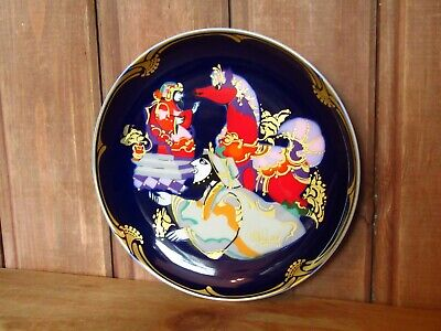 Rosenthal Blue And Gilded Porcelain Bjorn Winblad Plate Excellent Condition • 10£
