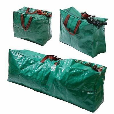 Christmas Xmas Decorations Zipped Storage Bags For Lighting, Tree's & Decoration • 7.99£