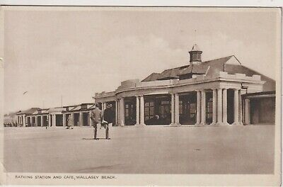CHESHIRE - Bathing Station At Wallasey Beach -1937 Wallasey Postmark • 1£