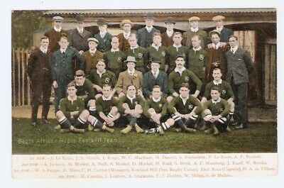 South African Rugby Football Team Colour Early Postcard • 5.99£