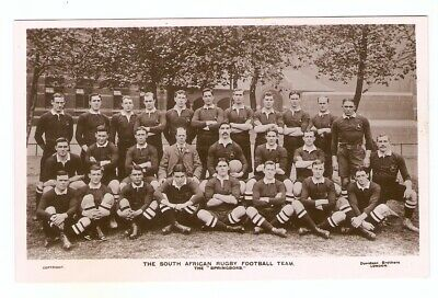 South African Rugby Football Team. The  Springboks  B/W Early RP Postcard • 3.99£