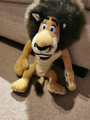 Madagascar Soft Toy Talking Alex The Lion Plush Collectable 2004 • 10£