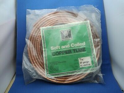 Soft And Coiled Copper Tube  5/16  20 Gauge 10 Metres -  Sealed • 19.50£