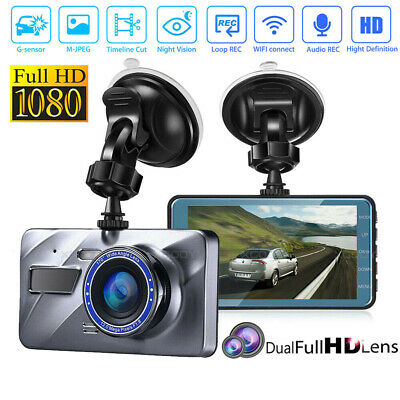 AU42.99 • Buy 1080P Car Dash Camera Front And Rear Dual Lens DVR Video Recorder Night Vision