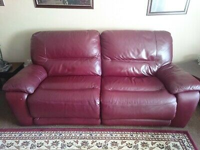 Leather Reclining 3 Piece Suite • 125£