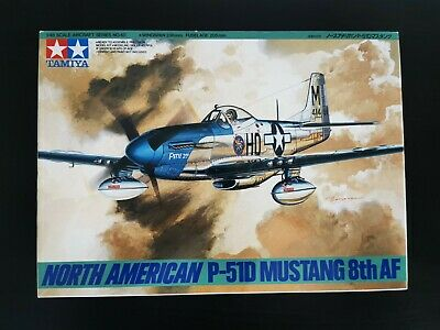 TAMIYA 1:48 Scale USAF P-51D MUSTANG 'PETIE 2nd (8th AIRFORCE.)  MODEL KIT BOXED • 14.99£