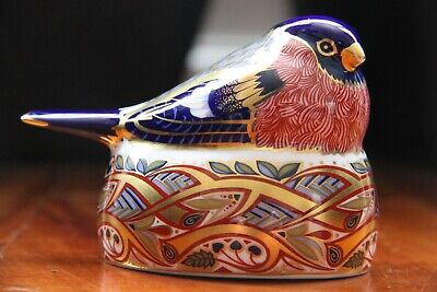 Royal Crown Derby Paperweight - The Nesting Bullfinch - Rare & Retired • 59.95£