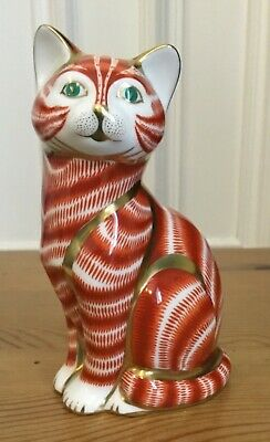 Royal Crown Derby Paperweight  Ginger Tom Cat  - 1st Quality VERY RARE RETIRED • 99.95£