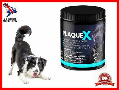 Plaque X 100% Natural Plaque Off Tartar Remover Dogs Cats Breath Fresh 180g • 10.11£