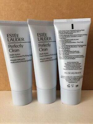 Estee Lauder Perfectly Clean Multi Action Foam Cleanser/Purifying Mask 3x30 Ml. • 13.95£