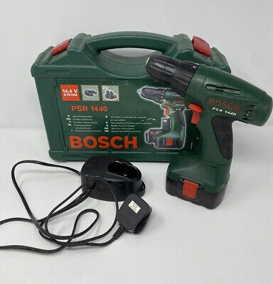 Bosch Psr 1440 Cordless 14.4v Drill Driver, Battery, Charger & Case • 39.99£