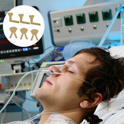 6PCS Fabric Oxygen Nasal Cannula Straw Tube Adhesive Tape Sticker Concentrator • 2.79£