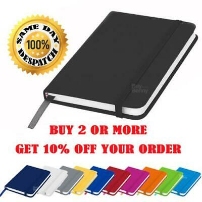 A5 A6 New Lined Hardback Notepad Notebook Note Book Notes Journal Diary Colours • 3.95£