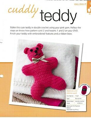 Cuddly Teddy 10 Ply Weight Crochet Pattern Easy Does It #1 Bergere • 1£