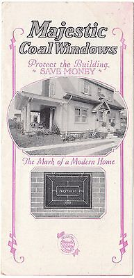 $10 • Buy 1915 Illustrated Advertising Brochure For Majestic Coal Window And Chutes Scarce
