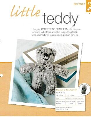 Little Teddy With Bow Tie 10 Ply Knitting Pattern Easy Does It #17 Bergere • 1£